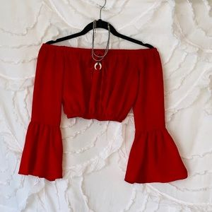 all the way red crop top!